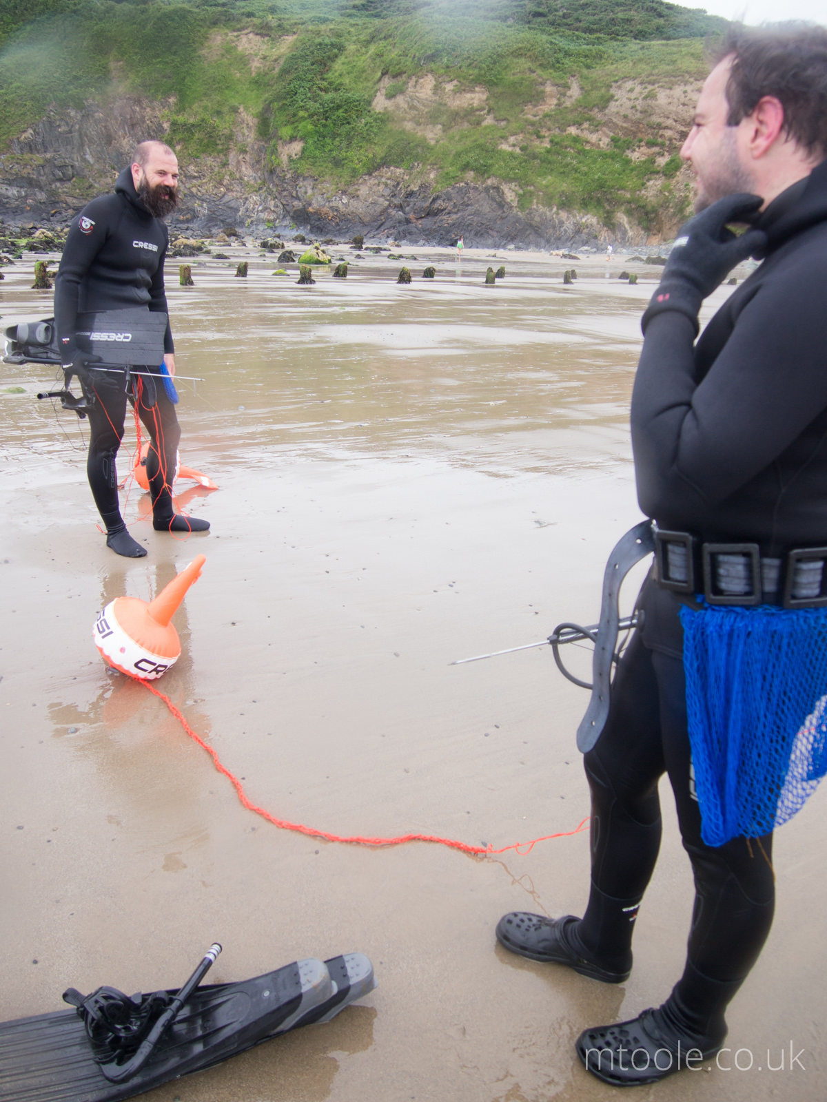 Happy Spearos on the Spearfishing Course in Wales