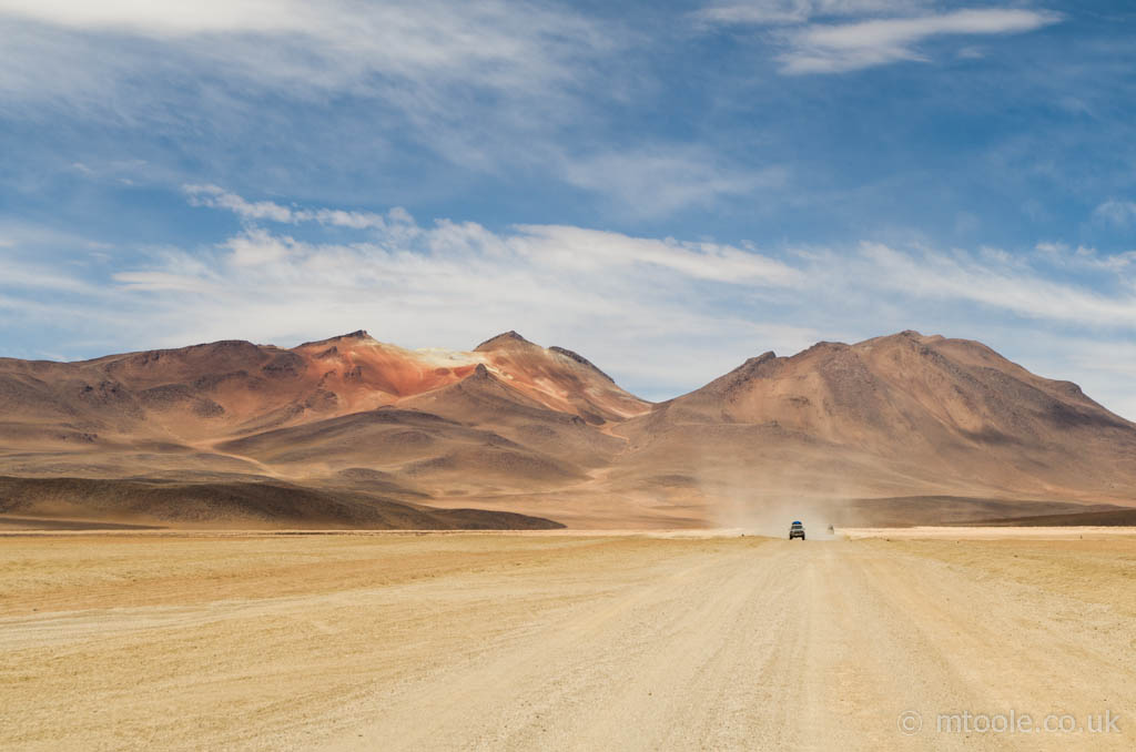 Mountain ranges and backroads in South West Bolivia