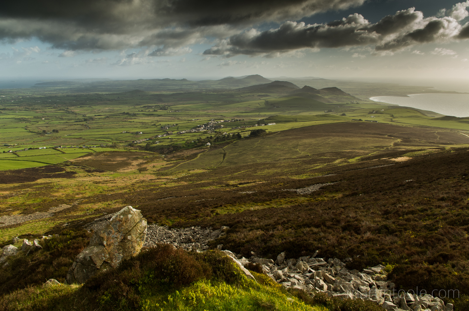 Llithfaen and The Llyn Peninsula From Caer Gribin