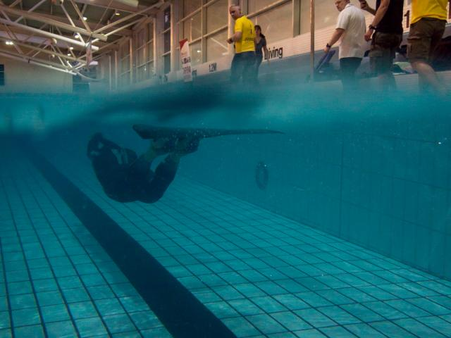 Rebecca Coales Female Dynamic Freediving National Record 2014